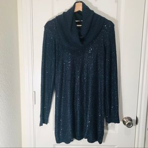 Soft surroundings sequins sweater